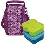 Rubbermaid® Lunch Bag and Blox Set, Purple