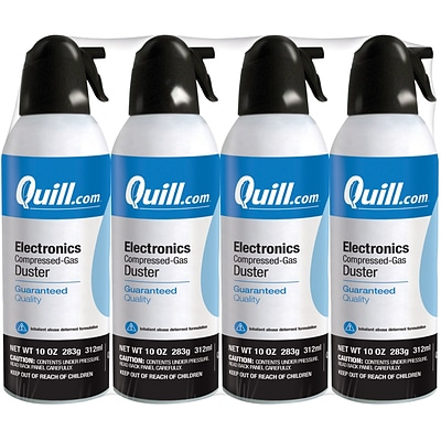 Quill Brand® Electronics Duster, 10 oz. Spray Can, 4/Pack (QL10ENFR-4)