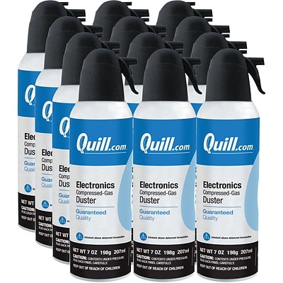 Quill Brand® Electronics Duster, 7 oz. Spray Can, 12/Pack (QL07ENFR-12)