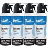 Quill Brand® Electronics Duster, 7 oz. Spray Can, 4/Pack (QL07ENFR-4)