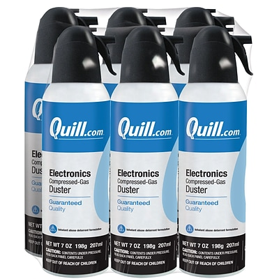 Quill Brand® Electronics Duster, 7 oz. Spray Can, 6/Pack (QL07ENFR-6)