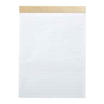 DwellStudio Perforated Letter-sized Notepad, Gate Pattern, 8.5 x 11, Lined Rule (51163)
