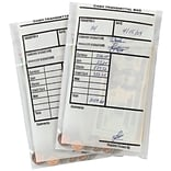 MMF Industries™ Cash Transmittal Bags, Clear