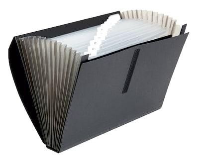 10769 Black 13 Pockets A-Z Jan Poly Expanding File Dec Blank Tabs Letter