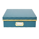 DwellStudio Vichy Pattern Desktop Storage Box, Blue (51117)