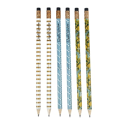 DwellStudio Fashion Pattern Pencils, Assorted, 6 pack (45117)