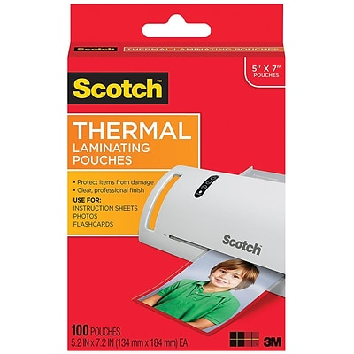 Scotch Thermal Pouches, 100/Pack (TP5903-100)