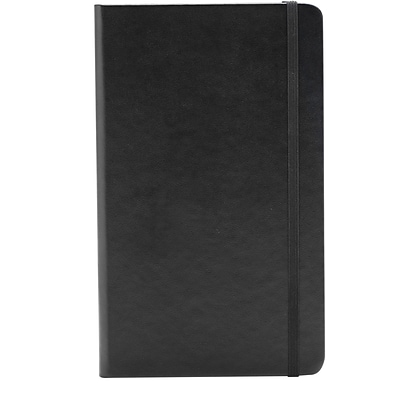 Poppin, Medium, Hard Cover Notebooks, Black, 25/Pack (104115)