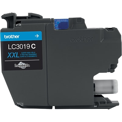 Brother Ink Cartridge, Super High Yield, Cyan (LC3019C)