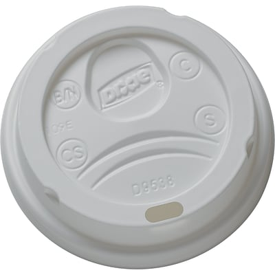GP PRO Dixie® Small Dome Plastic Hot Cup Lid, White, 1000/CT