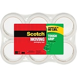 Scotch® Tough Grip Moving Packaging Tape, 1.88 x 43.7 yd., 6 Rolls/Pack