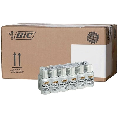 BIC Cover-It Correction Fluid, 144/Ct (BIC-WOC12)