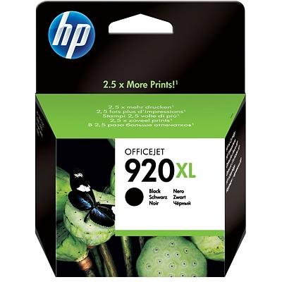 2 Genuine HP 920XL High Yield Black Ink OfficeJet 6000 6500 7000 7500-Retail Box
