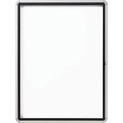Quartet Portable Aluminum Easel, Black Surface, Rectangle, Tabletop, 1 Each
