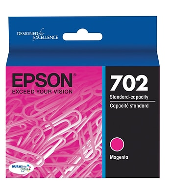 Epson 702 DURABrite Ultra Ink Cartridge, Standard-capacity, Magenta Ink Cartridge (T702320)