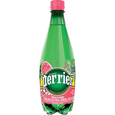 Perrier® Sparkling Natural Mineral Water, Watermelon, 16.9 oz., 24/CT