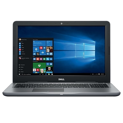 Dell i5567-7526GRY 15.6 Laptop Computer (Intel i7, 256GB SSD, 8GB DDR4, Win 10, Intel® HD graphics 620)