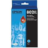 Epson 802 DURABrite Ultra Ink Cartridge, High Yield, Cyan Ink Cartridge (T802XL220)