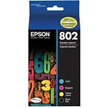 Epson 802 DURABrite Ultra Ink Cartridge, Standard-capacity, Multipack CMYK (T802120-BCS)