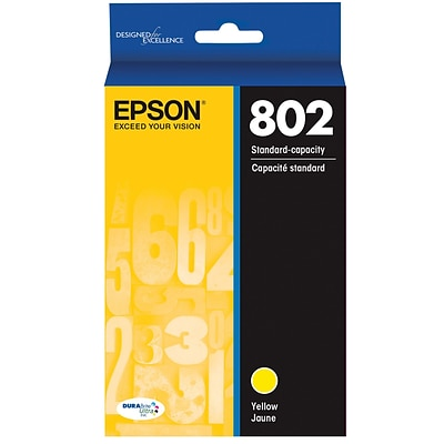 Epson 802 DURABrite Ultra Ink Cartridge, Standard-capacity, Yellow Ink Cartridge (T802320)