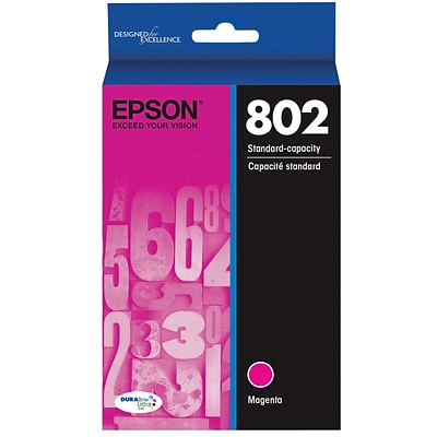 Epson 802 DURABrite Ultra Ink Cartridge, Standard-capacity, Magenta Ink Cartridge (T802320)