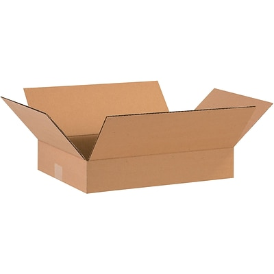 16 x 12 x 3 Shipping Boxes, Brown, 25/Bundle (16123)