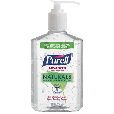 Purell® Advanced Naturals Hand Sanitizer, 8 oz. (9626-12-CMR)