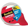 Scotch® Heavy Duty Shipping Tape with Dispensers 3850-RD, Clear, 1.88 x 54.6 yds, 1 Roll on a Refillable Dispenser