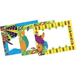 Barker Creek Bohemian Animals Name Badges & Self-Adhesive Labels, 45 Pieces Per Pack (BC1548)
