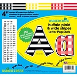 Barker Creek Buffalo Plaid & Wide Stripes 4 Letter Pop-outs, 255 Pieces per Pack (BC1732)