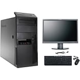 Refurbished Lenovo Thinkcentre M90 All in One Tower with a 22 Refurbished LCD Monitor, Intel i5, 1T