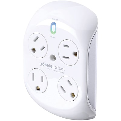 360 Electrical Revolve® 4 Rotating Outlets Surge Protector