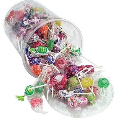 Office Snax Assorted Flavors Top O The Line Pops Candy, 3.5 lbs. Tub
