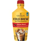 Gevalia Cold Brew Concentrate, House Blend, 32 Oz, 4/CT