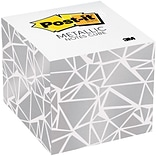 Post-it® Notes Cube, 3 in x 3 in, white wit...