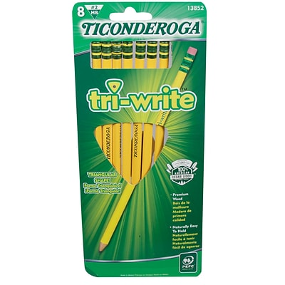 Ticonderoga Triangular, #2 Soft, 8 ct (13852)