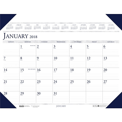 2018 House of Doolittle 24 x 19 Desk Pad Calendar, Executive Desk Organizer (180)