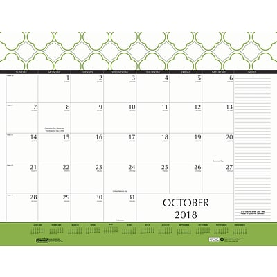 2018 House of Doolittle 22 x 17 Desk Pad Calendar Geometric (149)