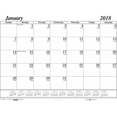 2018 House of Doolittle 22 x 17 Desk Pad Calendar Refill, Black (126)