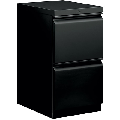 basyx® Mobile Pedestals, 2 Drawers, Black (BSXHBMP2FP)
