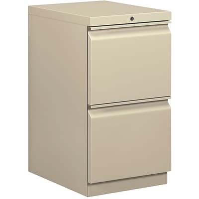 basyx® Mobile Pedestals, 2 Drawers, Putty (BSXHBMP2FL)