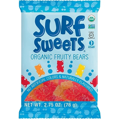 Surf Sweets® Organic Fruity Bears 2.75oz, 12/Box