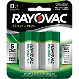 Rayovac® Recharge Plus Size D NiMH Rechargeable Battery, Two-Pack