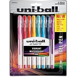 uni-ball Signo DX Gel Pens, Ultra Micro (.38mm), Assorted, 8 Pack (2004052)