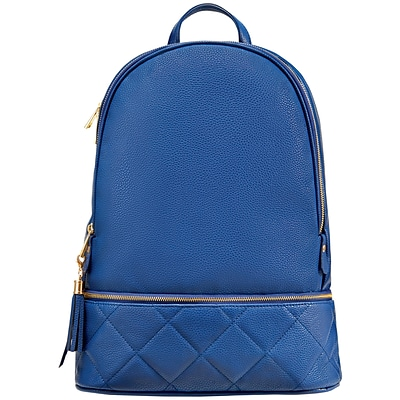 Staples Navy Quilted Backpack with a Tassel (51037)