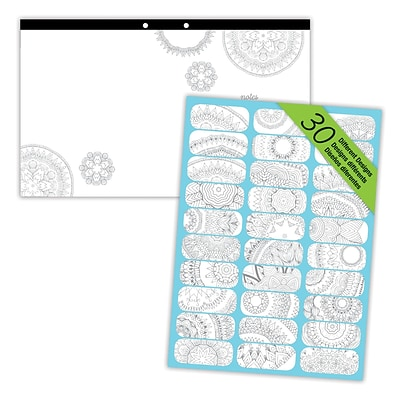 Blueline® DoodlePlan™ Notes Coloring Desk Pad, Mandala, 17-3/4 x 10-7/8, 30 Sheets
