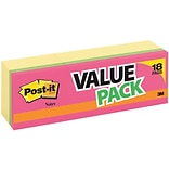 Post-it® 3x3 Assorted Notes Flat Notes