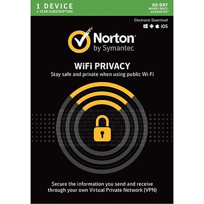 Norton WiFi Privacy VPN- 1 Device for Windows/Mac (1 User) [Download]