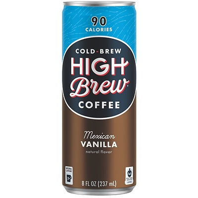 High Brew Coffee, Mexican Vanilla, 8 Oz., 12/PK
