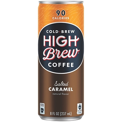 High Brew Coffee, Salted Caramel, 8 Oz., 12/PK